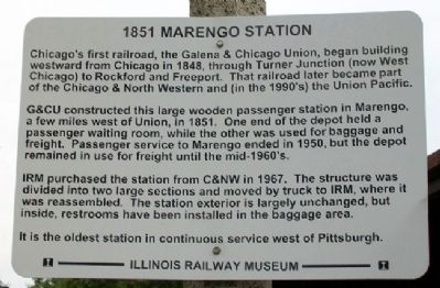 1851 Marengo Station Marker image. Click for full size.