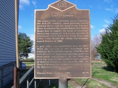 Town of Kenton Marker image. Click for full size.