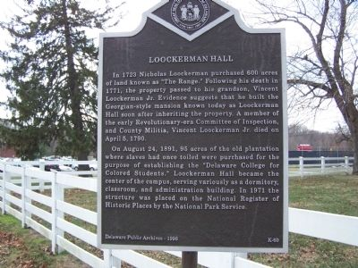 Loockerman Hall Marker image. Click for full size.