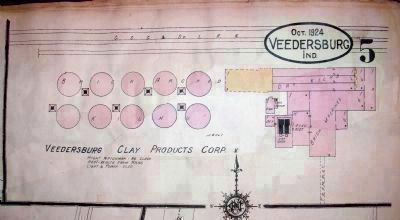 """West Brick Yard"" - - 'Veedersburg Clay Products Corp.' image. Click for full size."
