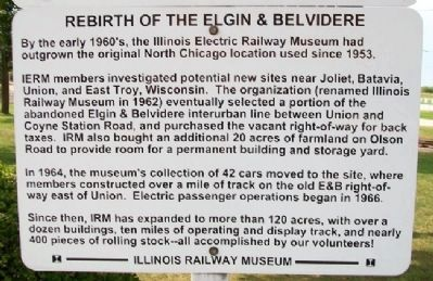 Rebirth of the Elgin & Belvidere Marker - Lower image. Click for full size.