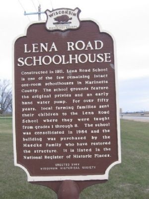 Lena Road Schoolhouse Marker image. Click for full size.