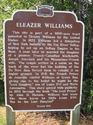 Eleazer Williams Marker image. Click for full size.