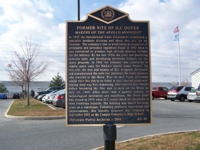 Former Site of ILC Dover Marker image. Click for full size.