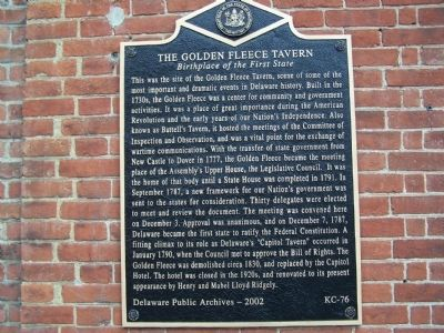 The Golden Fleece Tavern Marker image. Click for full size.