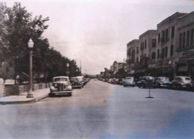 View north of Morley Avenue and Montezuma Hotel image. Click for full size.