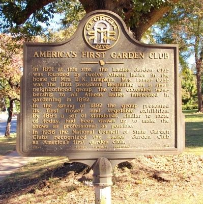 America's First Garden Club Marker image. Click for full size.