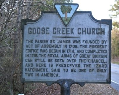 Goose Creek Church Marker image. Click for full size.