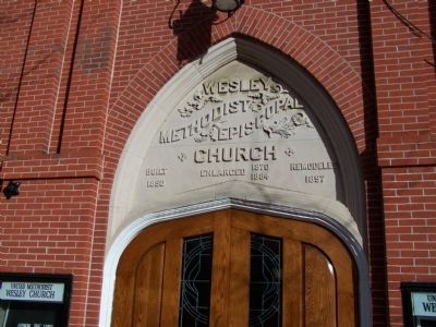 Door of Wesley United Methodist Church image. Click for full size.