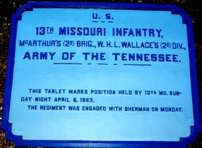 13th Missouri Infantry Marker image. Click for full size.