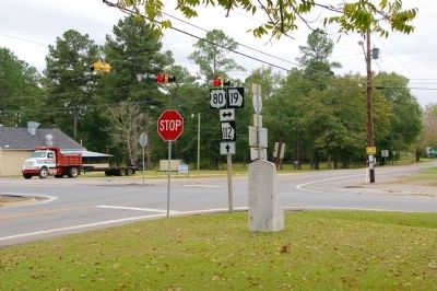 Intersection of Carolina West Florida, and Savannah Lower Creek Indian Trails Marker image. Click for full size.