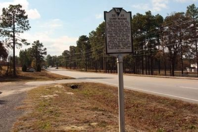 Camp Moore Marker, looking south along Fish Hatchery Road (State Road 32-73) image. Click for full size.