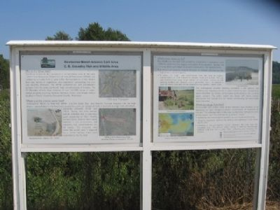 Kewaunee Marsh Arsenic Spill Area Marker image. Click for full size.