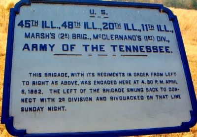 Marsh's Brigade Marker image. Click for full size.