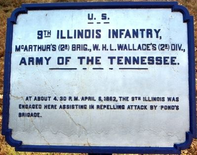 9th Illinois Infantry Marker image. Click for full size.