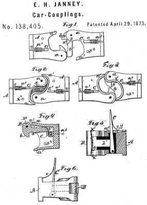 Patent Design for Janney Coupler image. Click for full size.