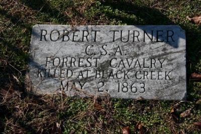 Pvt. Robert Turner, Co A. 4th Tenn Cav C.S.A. 1843-1863 image. Click for full size.
