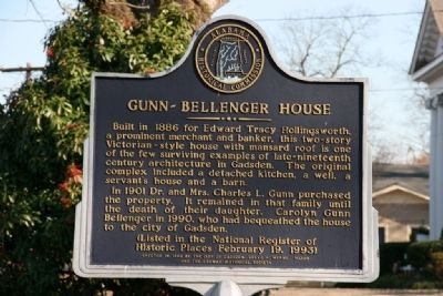 Gunn-Bellenger House Marker image. Click for full size.
