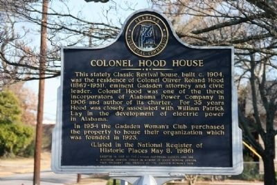 Colonel Hood House Marker image. Click for full size.