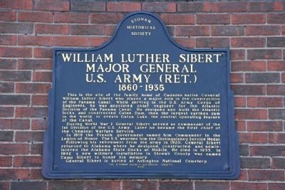 William Luther Sibert Major General U.S. Army (Ret.) Marker image. Click for full size.