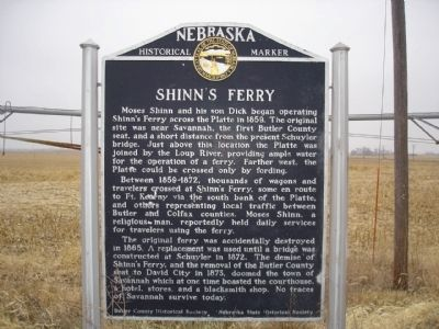 Shinn's Ferry Marker image. Click for full size.