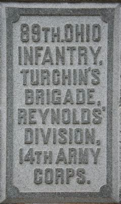 89th Ohio Infantry Marker image. Click for full size.