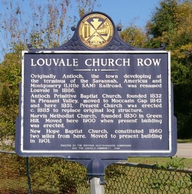 Louvale Church Row Marker image. Click for full size.