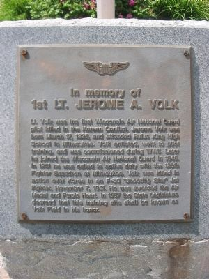 1st Lt. Jerome A. Volk Marker image. Click for full size.