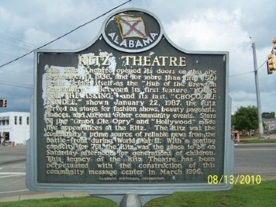 Ritz Theater Marker image. Click for full size.