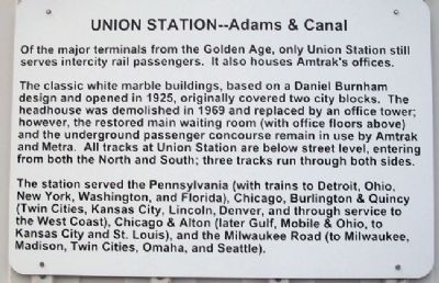 Chicago's Union Station Marker image. Click for full size.