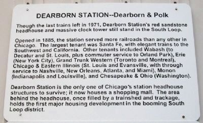 Chicago's Dearborn Station Marker image. Click for full size.