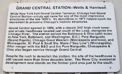 Chicago's Grand Central Station Marker image. Click for full size.