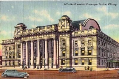 Chicago's Northwestern Station Postcard image. Click for full size.