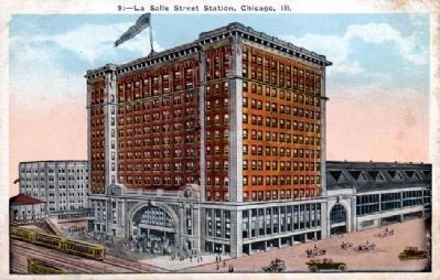 Chicago's LaSalle Street Station Postcard image. Click for full size.