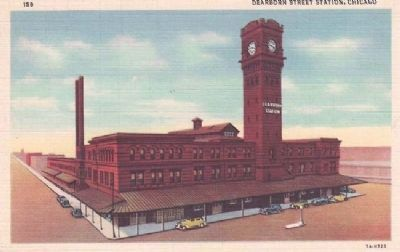 Chicago's Dearborn Station Postcard image. Click for full size.