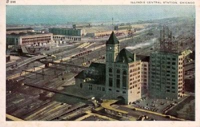Chicago's Central Station Postcard image. Click for full size.