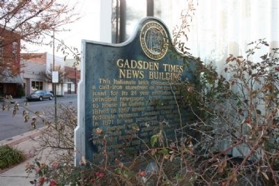 Gadsden Times-News Building Marker image. Click for full size.
