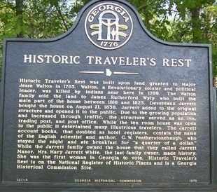 Historic Traveler's Rest Marker image. Click for full size.