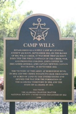 Camp Wills Marker image. Click for full size.