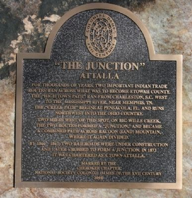 """The Junction"" Attalla Marker image. Click for full size."