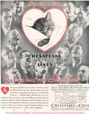 Chessie Cat Advertisement image. Click for full size.