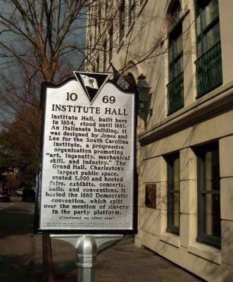 "Showing earlier ""Ordinance of Secession"" marker on adjacent building image. Click for full size."