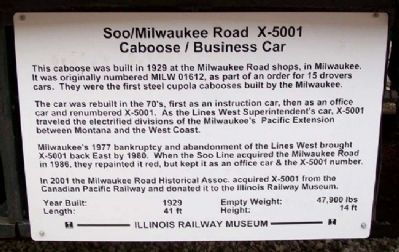 Soo/Milwaukee Road X-5001 Marker image. Click for full size.