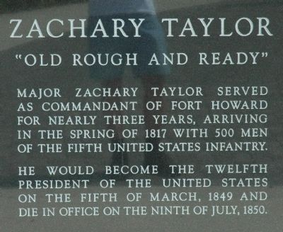 Zachary Taylor Marker image. Click for full size.