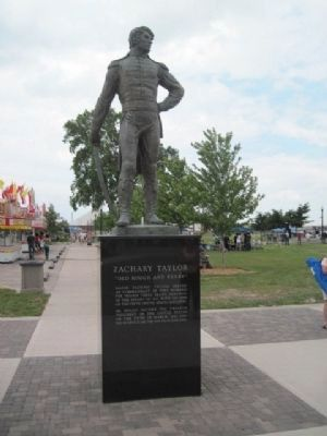 Zachary Taylor Statue in Leicht Park image. Click for full size.