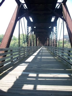 Old Railroad Bed Bridge (Lower part) image. Click for full size.