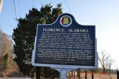 Florence, Alabama Marker - Side A image. Click for full size.