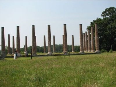 Columns of the Forks of Cypress image. Click for full size.