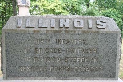 115th Illinois Infantry Marker image. Click for full size.