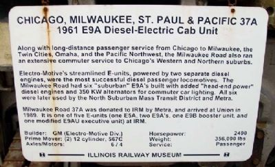 Milwaukee Road 37A Marker image. Click for full size.